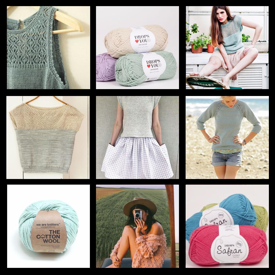Le tricot en été… Comment le continuer pendant les vacances ?