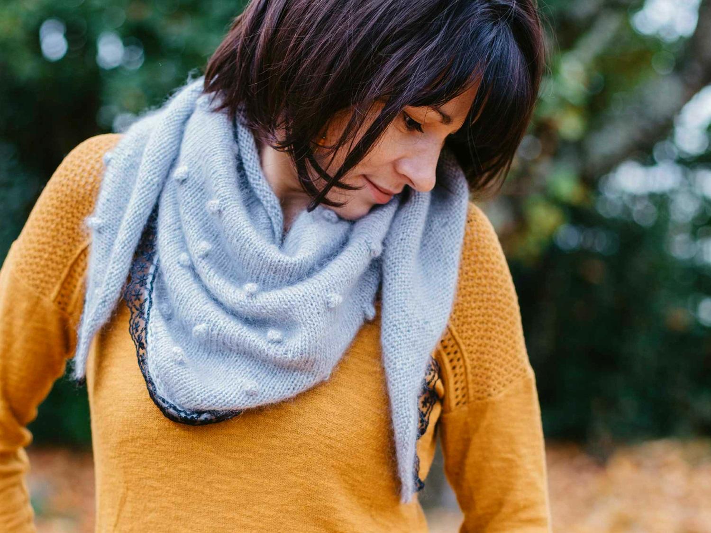 Mon châle Flocon l'histoire d'un tricot.